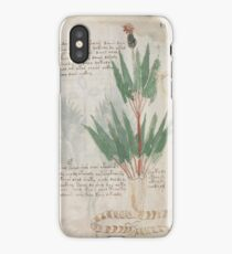 Voynich manuscript iPhone Case/Skin