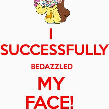 I Successfully Bedazzled My Face! by TheArcadeAddict