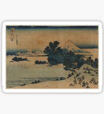 Mount Fuji Scene - Japanese pre 1915 Woodblock Print Sticker