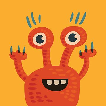 Cute Orange Monster Is Funny Too by azzza