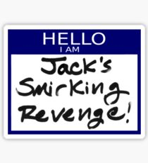 "Fight Club- ""I AM JACK'S SMIRKING REVENGE"" Sticker"