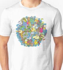 Camping and travel cartoon doodles  T-Shirt