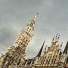 Marvelous Munich - Ornate Neues Rathaus and the Famous Glockenspiel  by Georgia Mizuleva