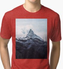 Mountain landscape Winter colors Tri-blend T-Shirt