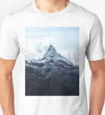 Mountain landscape Winter colors Unisex T-Shirt