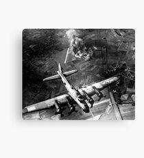 The first big raid by the 8th Air Force on a Focke Wulf plant at Marienburg. Canvas Print