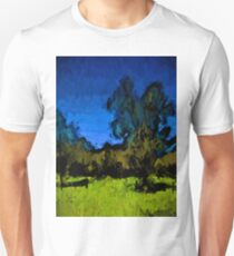 Gold Trees in the Blue Wind Unisex T-Shirt