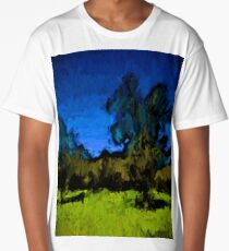 Gold Trees in the Blue Wind Long T-Shirt
