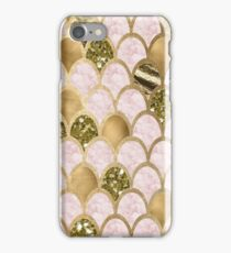 Rose gold marble mermaid scales iPhone Case/Skin