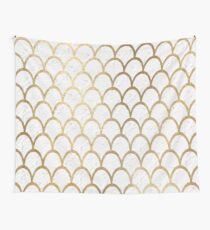 Arctic marble mermaid scales Wall Tapestry