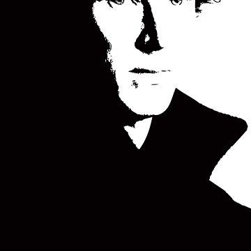 Sherlock V-Neck T-Shirt by hazelbasil