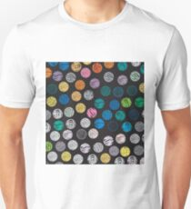 Polka Dot Sketch Pattern Colour Unisex T-Shirt