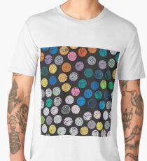 Polka Dot Sketch Pattern Colour Men's Premium T-Shirt