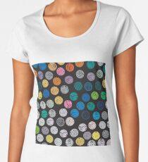 Polka Dot Sketch Pattern Colour Women's Premium T-Shirt