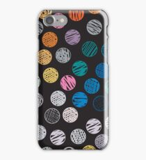 Polka Dot Sketch Pattern Colour iPhone Case/Skin