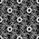 B&W Sunflower Pattern by ZedEx