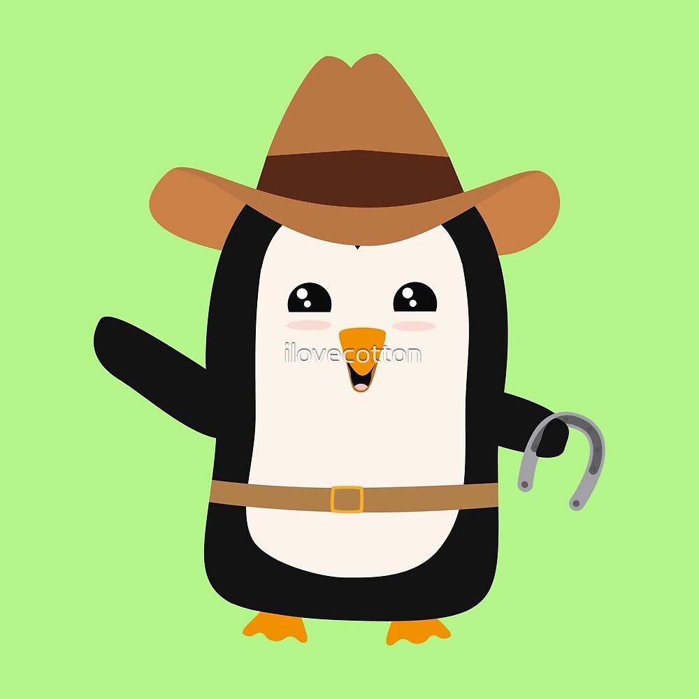 Cowboy Penguin Wild West Rb0s6 by ilovecotton