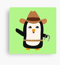 Cowboy Penguin Wild West Rb0s6 Canvas Print