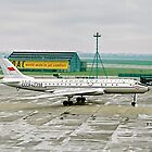 Tupolev Tu-104A CCCP-42398 taxying at LAP by Colin Smedley