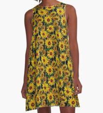 Sunflower Field A-Line Dress