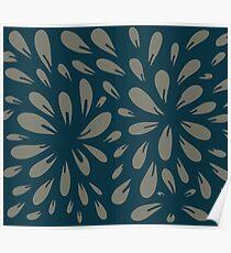 blossom (blue/gray) Poster