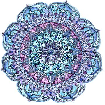Blue Mandala by SarahTravisArt