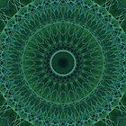 Mandala in malachite tones by JBlaminsky