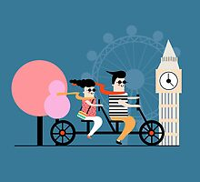 London Bike Ride by Nichola Cowdery