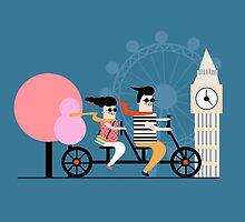 London Bike Ride by Nichola Cowdery