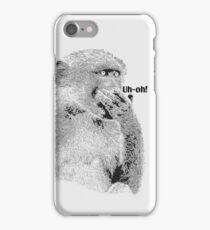 "Baboon in Comical ""Uh-Oh"" Pose 
