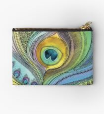 Peacock Feather Studio Pouch