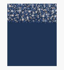 Blue abstract pattern . Photographic Print
