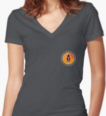 Logo of the Alliance of Galactic Travellers Women's Fitted V-Neck T-Shirt