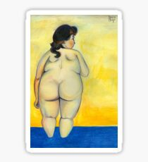 woman entering the water by Felix Vallotton in Full of Freckles style Sticker