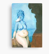 Black magic by René Magritte in Full of Freckles style Canvas Print