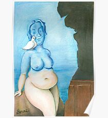 Black magic by René Magritte in Full of Freckles style Poster