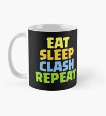 Essen Sie Schlaf-Zusammentreffen-Wiederholungs-lustiges Geschenk Tasse