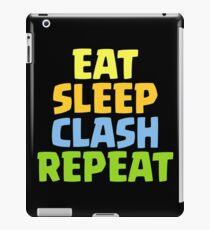 Essen Sie Schlaf-Zusammentreffen-Wiederholungs-lustiges Geschenk iPad-Hülle & Klebefolie