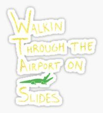 2 Chainz Crocodile Slides (Fan Tribute) Sticker