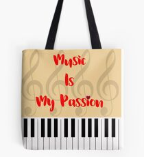 Music Is My Passion : #A Tote Bag
