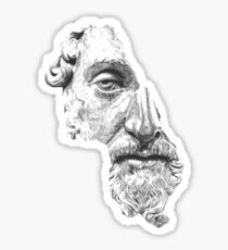 MARCUS AURELIUS ANTONINUS AUGUSTUS / black and white Sticker