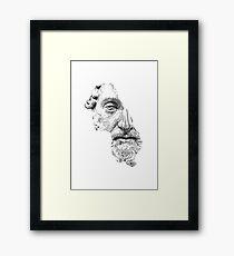 MARCUS AURELIUS ANTONINUS AUGUSTUS / black and white Framed Print