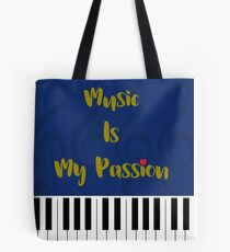 Music Is My Passion : #C Tote Bag