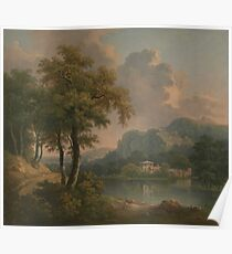 Wooded Hilly Landscape by Abraham Pether Poster