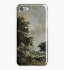 Wooded Landscape with Merrymakers in a Cart, Meindert Hobbema, c. 1665 iPhone Case/Skin