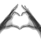 X-ray of hands forming a heart shape by PhotoStock-Isra