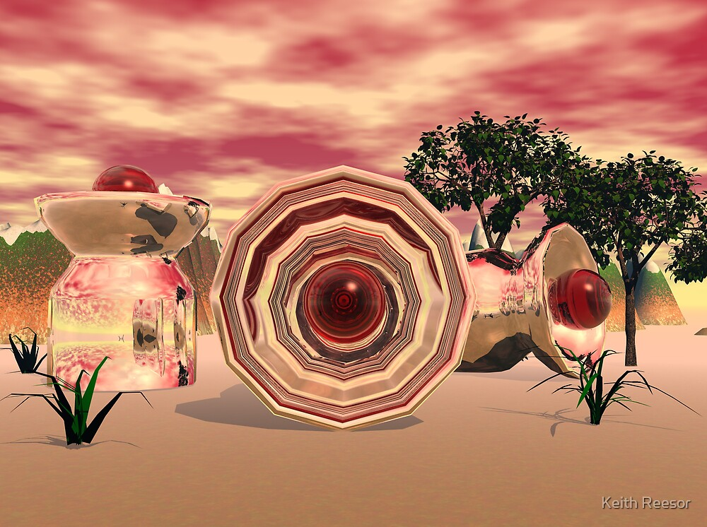 Vases and Red Bubbles by Keith Reesor