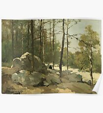 Wooded View near Barbizon, Johan Hendrik Weissenbruch, 1900 Poster