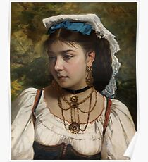 Young Italian Woman by Leonardo Gasser. Poster