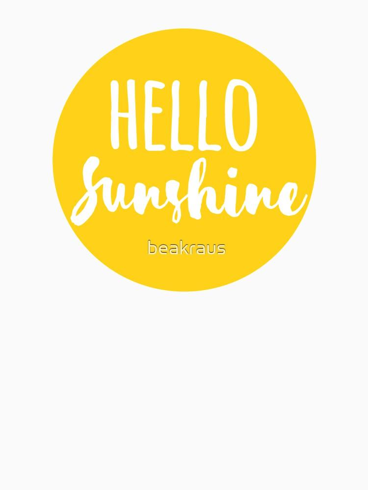Hola Luz de sol de beakraus
